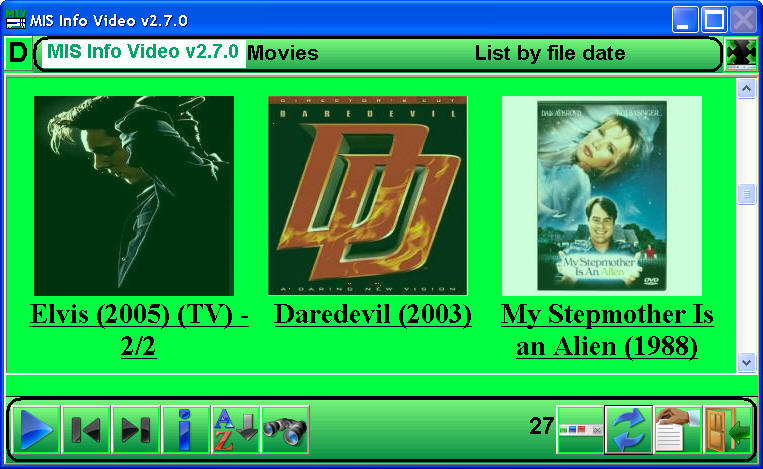 Free media player: Play DVD, AVI, MP3, MPEG or view pictures (JPG, TIF, GIF)